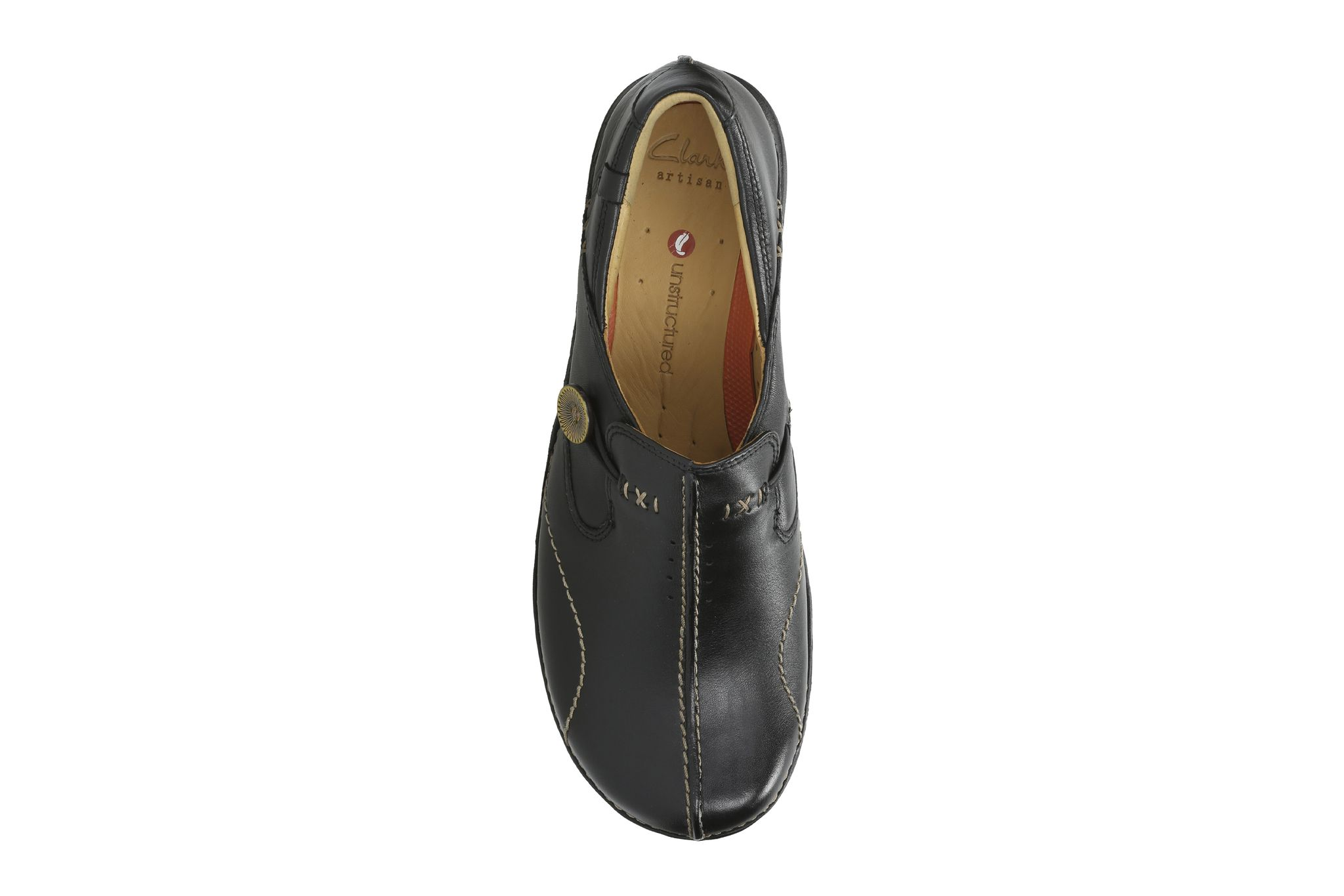 9a12e8aa5 Clarks Womens Un Loop Black Leather Shoes